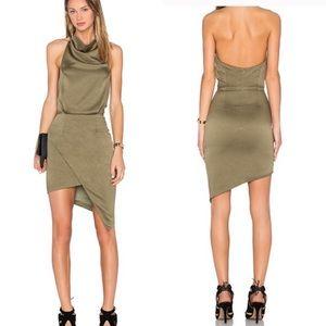 "Elliatt ""Camo"" dress olive green asymmetric medium"